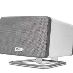 Flexcom - Desk Stand for SONOS PLAY: 3 White Home Control and Audio